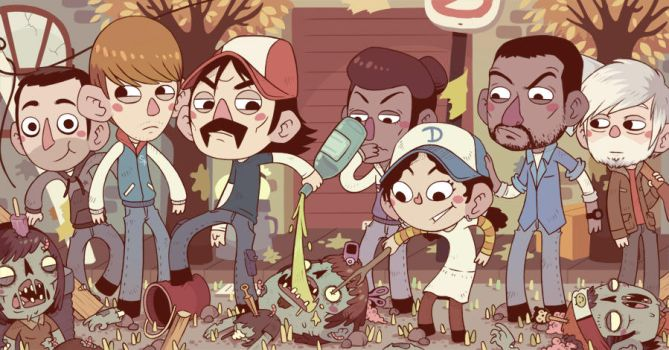 the walking dead by Bisparulz