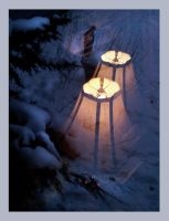 Lighting the Great Outdoors ~ Shrine by richardcgreen