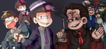 Mafia! Matsu ((Collab)) by Quite-Lovely-Puzzles