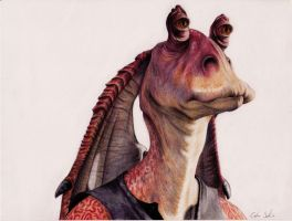 Jar Jar Binks by CarolineSalinas