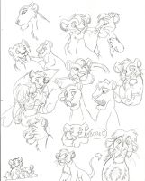 Lion King Doodles by Zee-Stitch