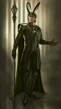 The Avengers- Loki by andyparkart