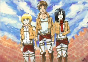 Attack On Titan by Skyfurrow