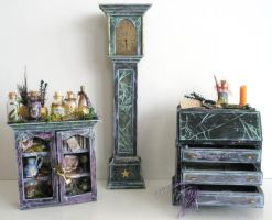 Magic Wizard Dollhouse set by grimdeva