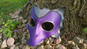 Violet Dragon Leather Mask by A-S-Thompson