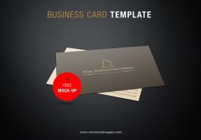 Free Business Card Mockup Template by AlsusArt