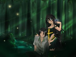 R. ::Just us, and fireflies:: by Cutie-girl2