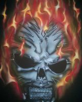 skull 2 airbrush by thecrow1299