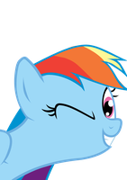 Rainbow Wink by hollow-whispers