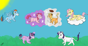 My little pony - Lionesses by Kopa-Love