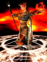 Gemini: Fire Sorceress by Lokai2000