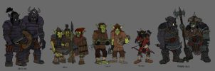 Orc breeds by Mara999