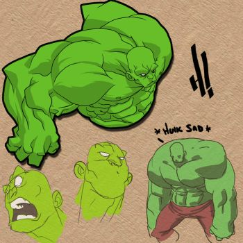 Hulk: color sketches by pencil-ninja