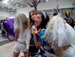 Scaring the girls by Kalix5