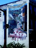Mural in Baltimore's Pigtown Section by MystigoDragon