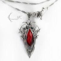 ZUNTIRX - silver and red quartz by LUNARIEEN