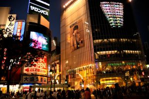 Shibuya at Night by AndySerrano