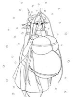 Nagala Christmas 2011 Lineart by bellydoom