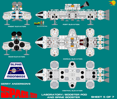 Gerry Andersons Space 1999 Eagle Transporter 5 of  by ArthurTwosheds