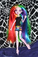 Rainbow Monster High ooak doll by rainbow1977