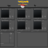 Custom Pokemon Team Template by Drake09