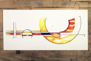 Watercolor design painting by InkingArt