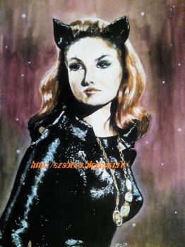 Julie Newmar as Catwoman by Ezabora