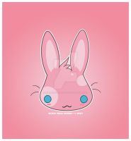 Kawaii Pink bunny by KawaiiUniverseStudio