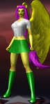 Icon CoH Costume Concept - EQG Fluttershy (Final) by mattwo