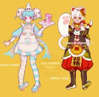 [Adoptables] Galaxbon 06+07 open by renos13