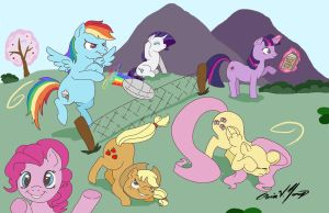 My Little Pony Volley Ball by gigithestar07