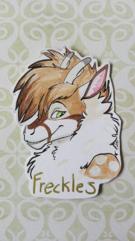 Freckles cut-out badge by raevenilonka