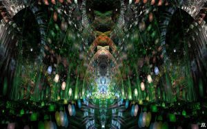 Green cathedral by Axoneman
