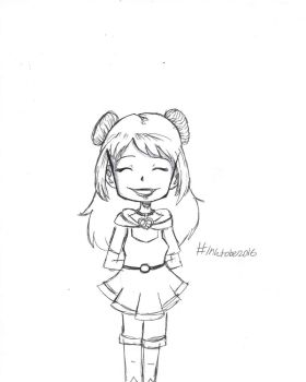 Inktober 9th- Me as an Anime Girl by Wordgirlserenity67