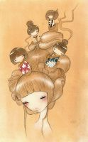 The Dolls in my Head by udon-art