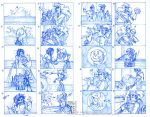 Storyboard Sketches ver1, ver2 by Quarter-Virus