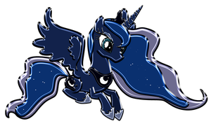 Princess Luna Chrome by DuskBrony