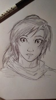 Skylor I guess (sketch) by Squira130