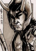 5/18/2014 Daily Sketch Card - Loki by tbeistel