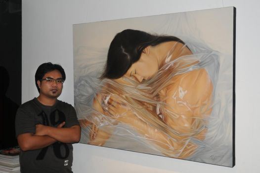 Me w/ my Artwork by Ju-Vi