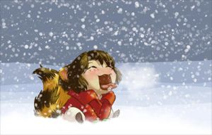 Catching Snowflakes by Nytrinhia