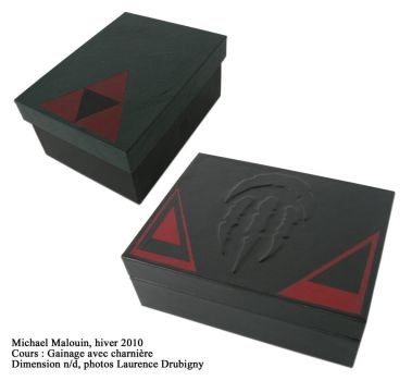Leather boxes by MikeHellius