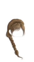 Hand Painted Braided hair with bangs by Trisste-stock-moved