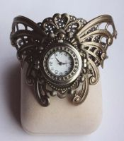Wide cuff watch by Pinkabsinthe