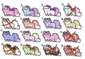 Lolita Kitten Adoptables (20 POINTS ONLY) by clovens