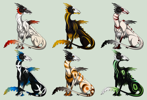 Frilled Dragon Adopts -CLOSED- by Liltz