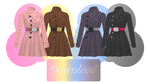 [MMD] WINTER GLAZE COATS [+DL] by Sims3Ripper