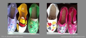 Customized/Hand-painted Espadrilles5 by suirinomoshi