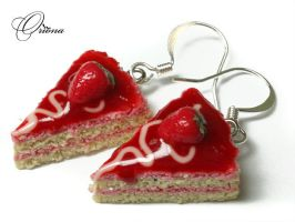 "Earrings ""Strawberry"" 4 by OrionaJewelry"