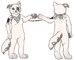 Fursuit ref for Shiko by foreign-potato
